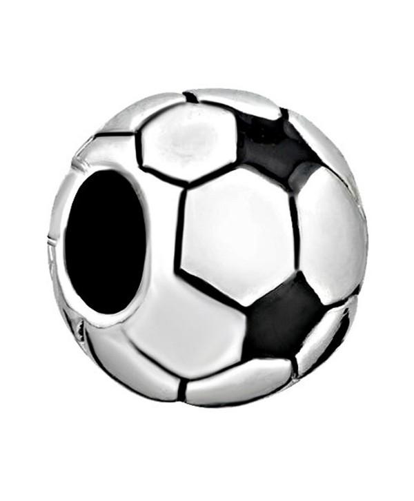 CharmsStory Soccer Ball Charms Classic World Cup Soccer Beads Charm For Bracelets - CW11R9KQM7V