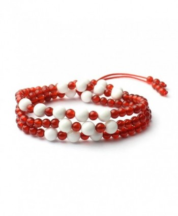 O-stone Red Agate + Tridacna Mala 4-6mm Meditation Mala Bracelet Necklace Grounding Stone Protection - CS11CJ0NX37