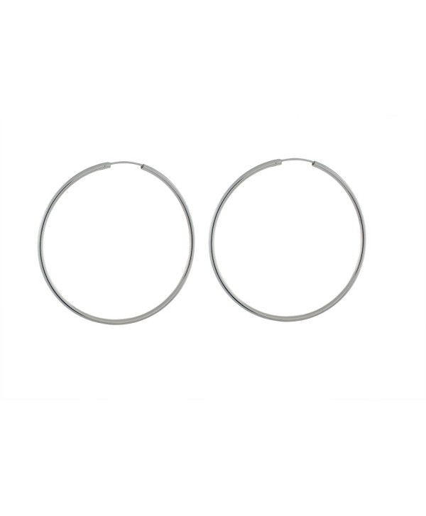 Sterling Silver 2mm Round Tube Endless Hoop Earrings - CS17YL40NRK