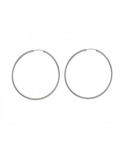 Sterling Silver 2mm Round Tube Endless Hoop Earrings - CS17YL40NRK