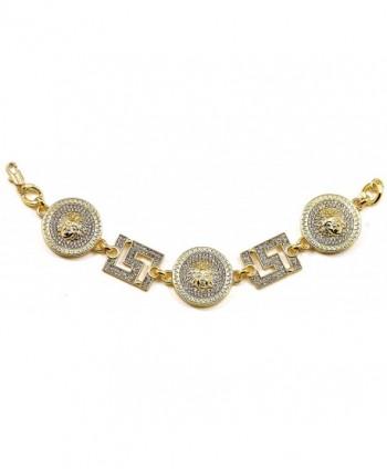 Medusa Bracelet Square Insert Cuban in Women's Link Bracelets
