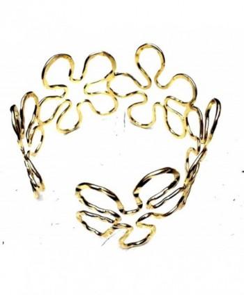 Elegant New Gold Tone Geometric Sunflower Upper Arm Bracelet Armband Armlet Cuff - C118224L0LO