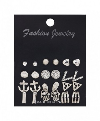 Daycindy Pairs Silver Anchor Earrings