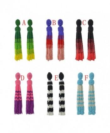 Idealway Handmade Statement Bohemian Earrings in Women's Drop & Dangle Earrings
