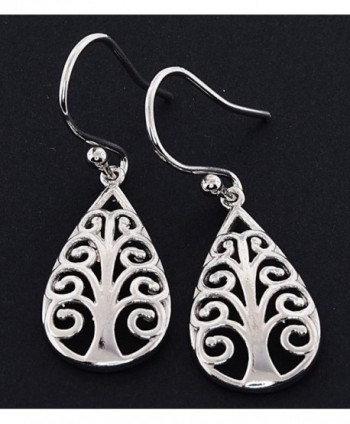 Sterling Silver Symbolic Earrings Pattern in Women's Drop & Dangle Earrings