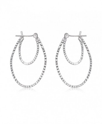 Sterling Silver Diamond Rhodium Earrings