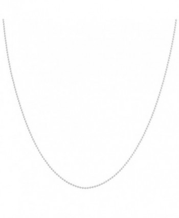 Sterling Silver 1.2mm Polished Ball Chain (14- 16- 18- 20- 22- 24- 30- or 36 inch) - C21162A9SFL