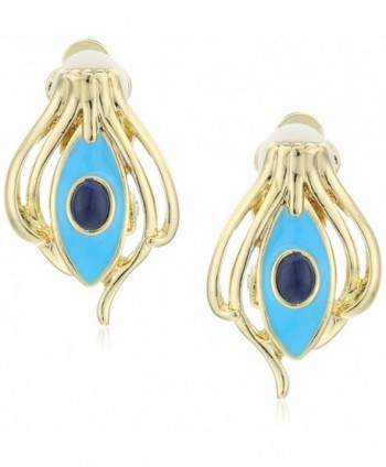 House of Harlow 1960 Risha Turquoise Clip-On Earrings - CY12BMLHFKZ