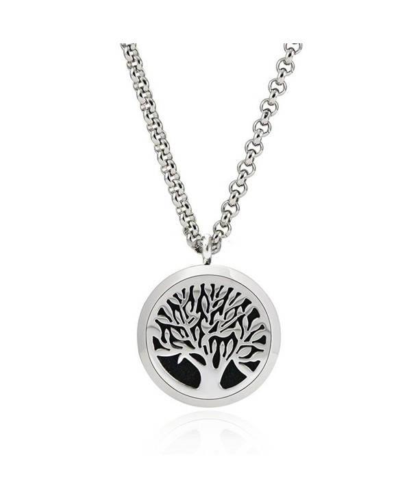 Essential Oil Diffuser Necklace Hypo-Allergenic 316L Stainless Steel Locket Pendant Necklace NGG286 - CW12DOD01U5