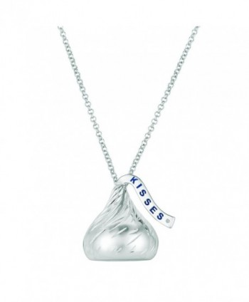 Sterling Silver 25mm 3D Hershey Kiss Pendant with Diamond - CW183RG48NG