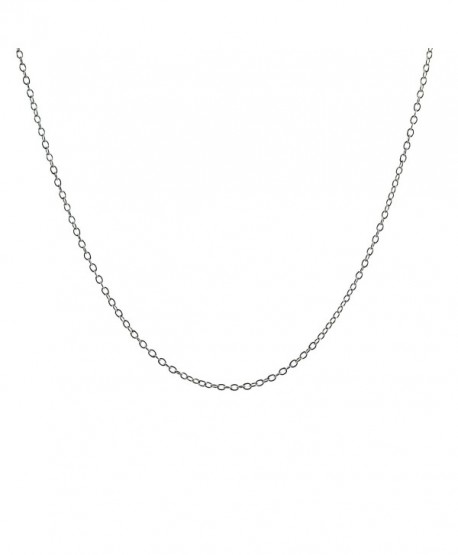Sterling Silver 1mm Cable Chain - 18 Inches - CU1196PI955