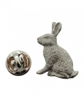 Rabbit Pin ~ Antiqued Pewter ~ Lapel Pin ~ Sarah's Treats & Treasures - CH12O3QUNHW