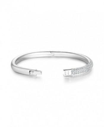 Bangle Bracelet Swarovski Crystals Rhodium in Women's Bangle Bracelets
