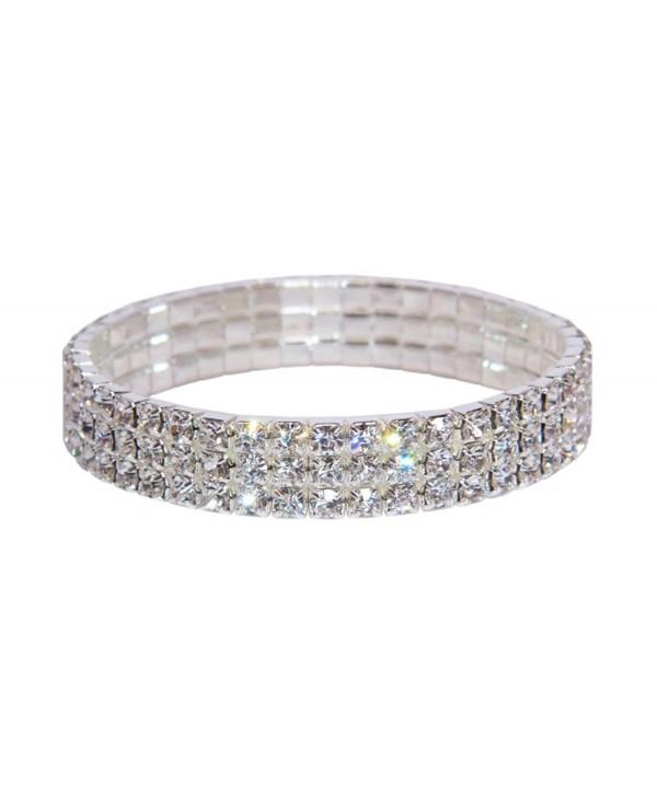 Weiss Rhinestone Stretch Bracelet Silver - CW128RLZGN1