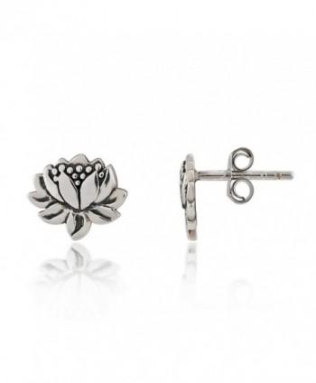 Sterling Silver Oxidized Detailed Earrings