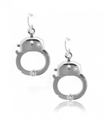 Spinningdaisy Silver Plated Functional Handcuff Earrings - CK11DFLWN5X