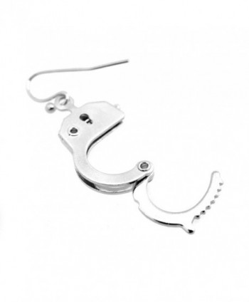 Spinningdaisy Silver Functional Handcuff Earrings