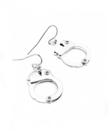 Spinningdaisy Silver Functional Handcuff Earrings in Women's Drop & Dangle Earrings