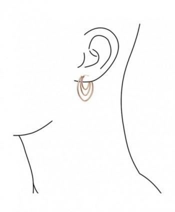 Bling Jewelry Triple Crystal Earrings