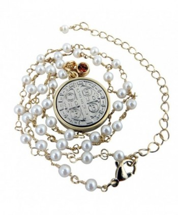Vintage Blessings Silver Benedict Necklace in Women's Pendants