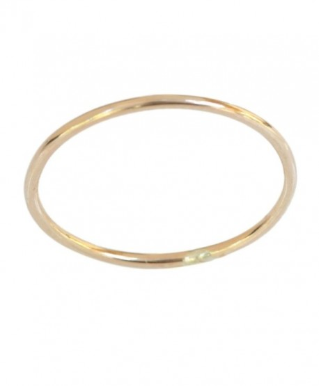 14k Gold Filled 1mm Thin Plain Band Thumb Ring - CT11JBEQLZL