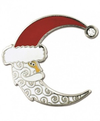 PinMart's Crescent Moon Christmas X-Mas Santa Hat Enamel Lapel Pin - CD12NFFBN7U