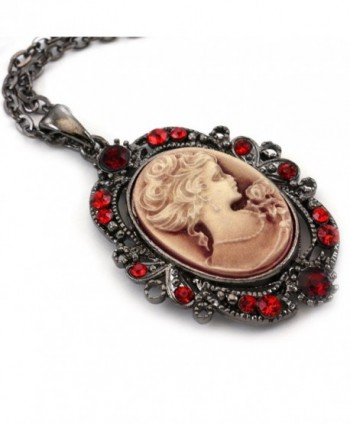 Cameo Pendant Necklace Fashion Jewelry