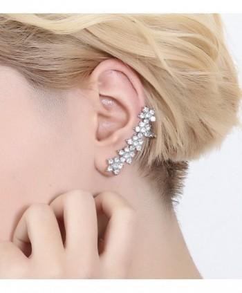 Boderier Earring Crystal Flowers Hypoallergenic in Women's Cuffs & Wraps Earrings