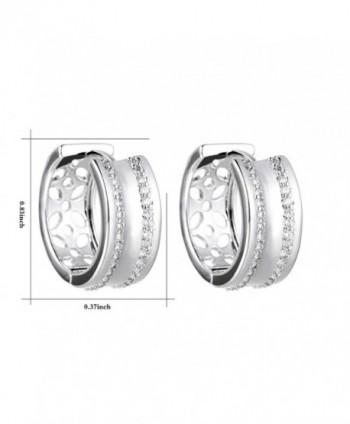 XZP Zirconia Earrings Hypoallergenic Earring in Women's Hoop Earrings