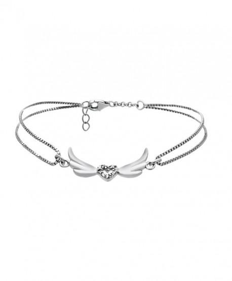 Mother Sterling Silver Bracelet Crystal - C31272BV2OT