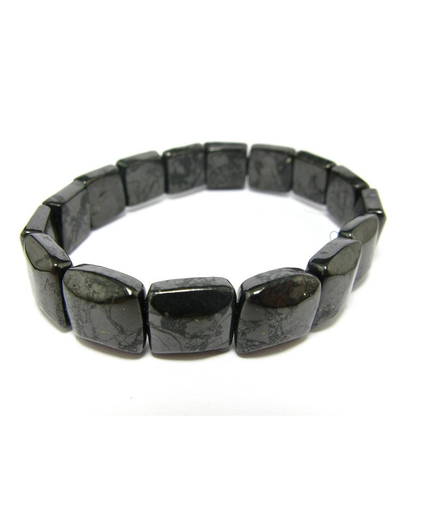 Shungite Bracelet From Russia - 12mm Squared Beads - CV11R0RT6U3