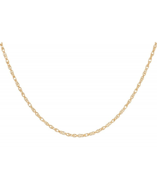 "14Kt Gold-Filled Rope Chain Necklace 1.2 mm 18"" - C412C4BSY5H"