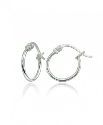 """Sterling Polished Lightweight Click Top Earrings - """"12mm 1/2"""""""" - Silver"""" - CE18843XYQU"""