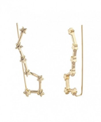 Lux Accessories Celestial Threader Earrings