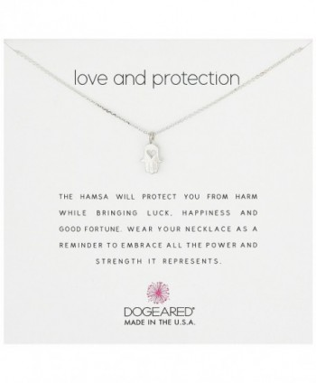 "Dogeared Love And Protection Heart Hamsa 16"" Boxed Reminder Necklace - CU11VE8EYX3"