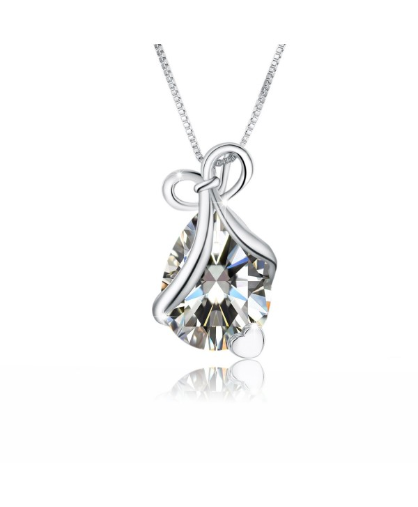 Teardrop Necklace Pendant Zirconia Birthstone - CD1866GEQLC