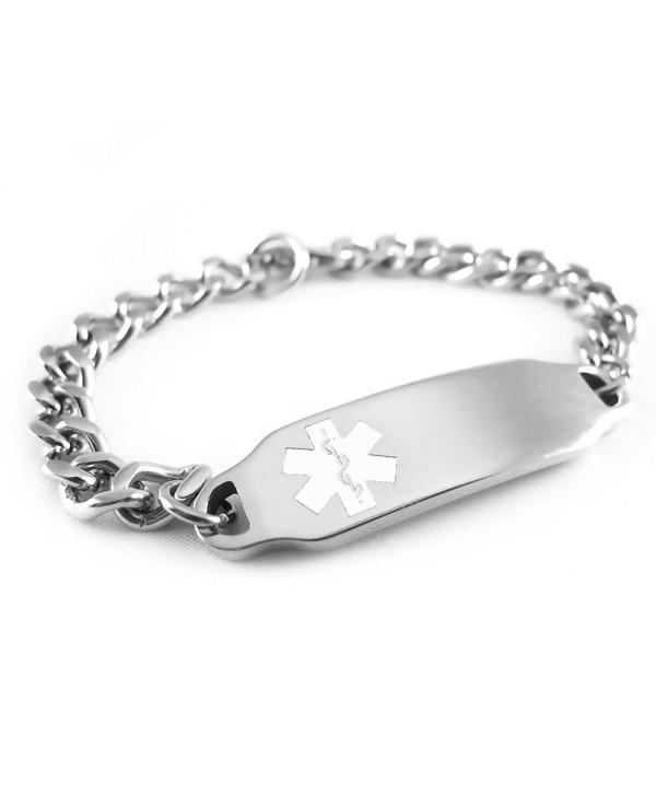 MyIDDr - Pre-Engraved & Customizable Hypoglycemia Medical Alert ID Bracelet- White Symbol - CJ116JRDXCR