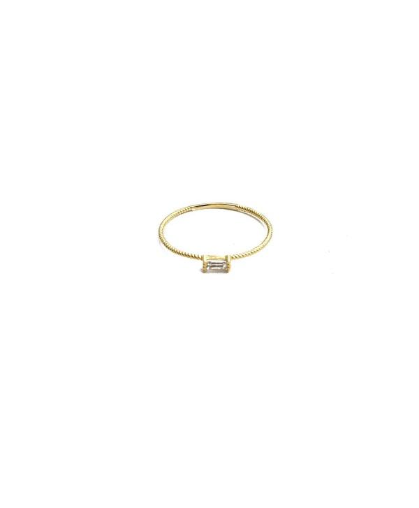 HONEYCAT Baguette Crystal Minimalist Delicate - Gold - C6180UO0RHK