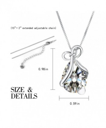 Teardrop Necklace Pendant Zirconia Birthstone in Women's Pendants