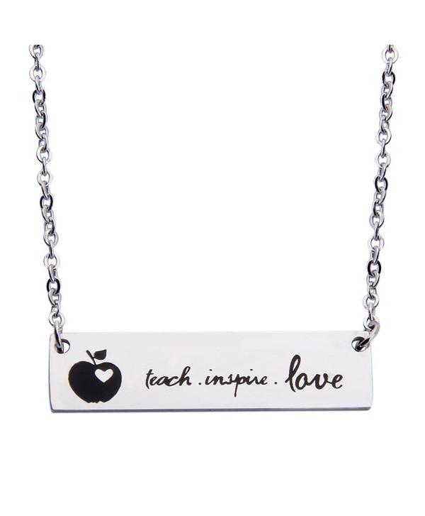 Ensianth Teacher Gift Teache Love Inspire Bracelet Cuff Bracelet Appreciation Gift - necklace - C8182TIO08Z