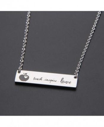 Ensianth Teacher Necklace Appreciation necklace in Women's Pendants