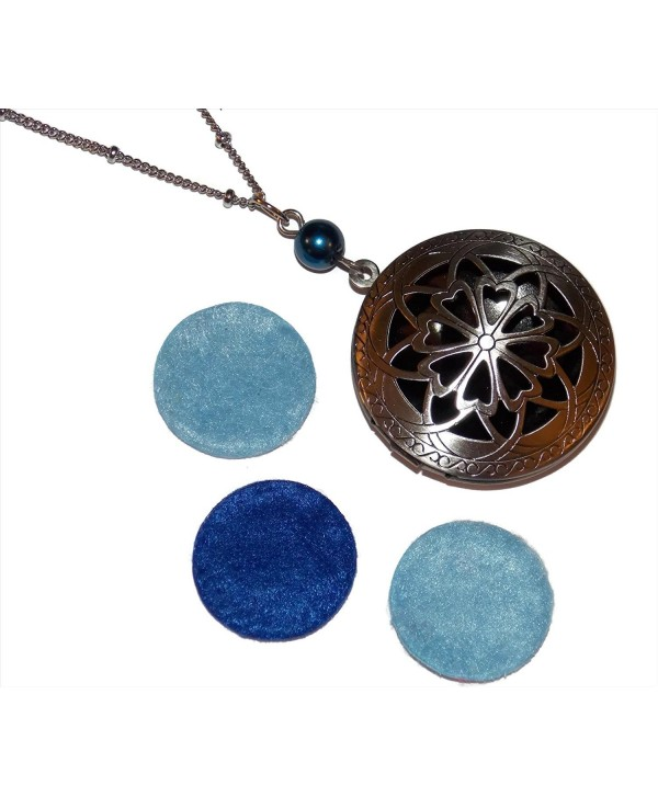 Diffuser Locket Necklace Ornate Filigree Great for Essential Oil Aromatherapy Scent Diffuser Set of Pads - CJ129KNZNBF