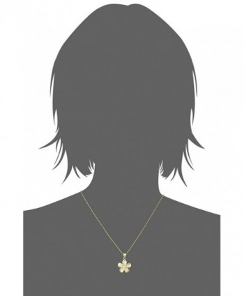 Yellow Sterling Plumeria Pendant Necklace in Women's Pendants