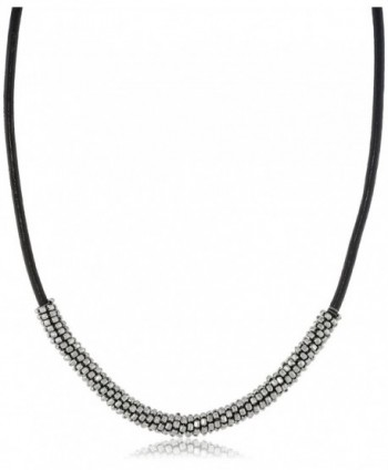 "Kenneth Cole New York ""Seed Bead Boost"" Bead Wrapped Leather Necklace- 20"" - C611HGKFY8R"