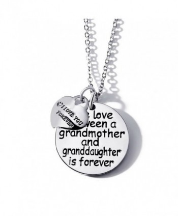 "The love between a grandmother and granddaughter is foreverand ""I louv you forever""Pendant Necklace - CI18670DA9T"