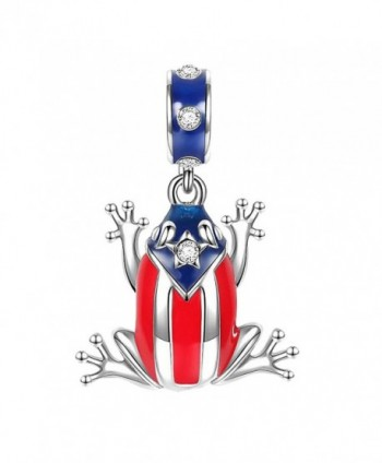 SOUFEEL Puerto Rico Coqui Tree Frog Charm Pendant 925 Sterling Silver Charms For Bracelets and Necklaces - CB11AUCEY97