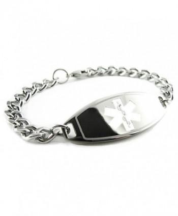 MyIDDr - Pre-Engraved & Customized Celiac Disease Medical Bracelet- White - C7119I69XPH
