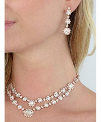 Mariell Rhinestone Necklace Earrings Bridesmaids in Women's Jewelry Sets