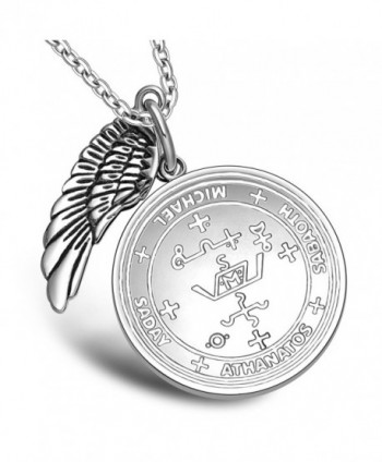 Archangel Michael Simulated Pendant Necklace