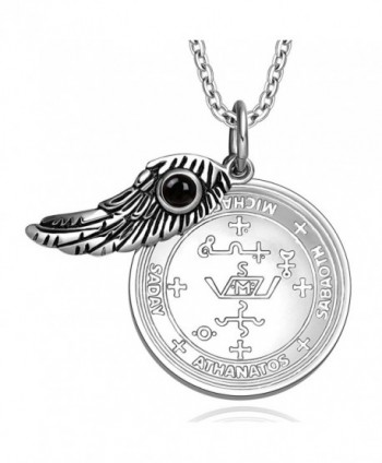 Archangel Michael Simulated Pendant Necklace in Women's Pendants